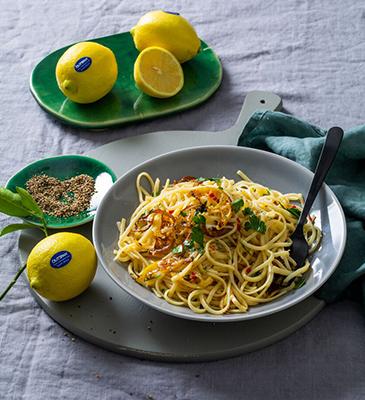Fried Caramelised Lemon and Parmesan Pasta