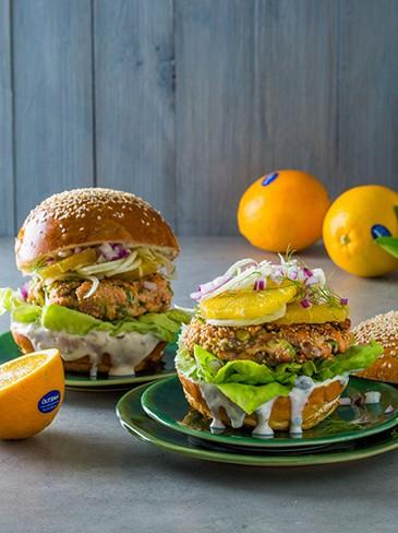 Salmon burgers