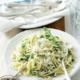 Garlic, rocket and lemon linguine