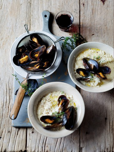 lemon risotto with mussels